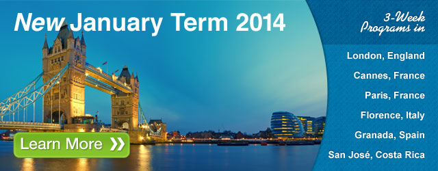 New January Term Programs in 2014